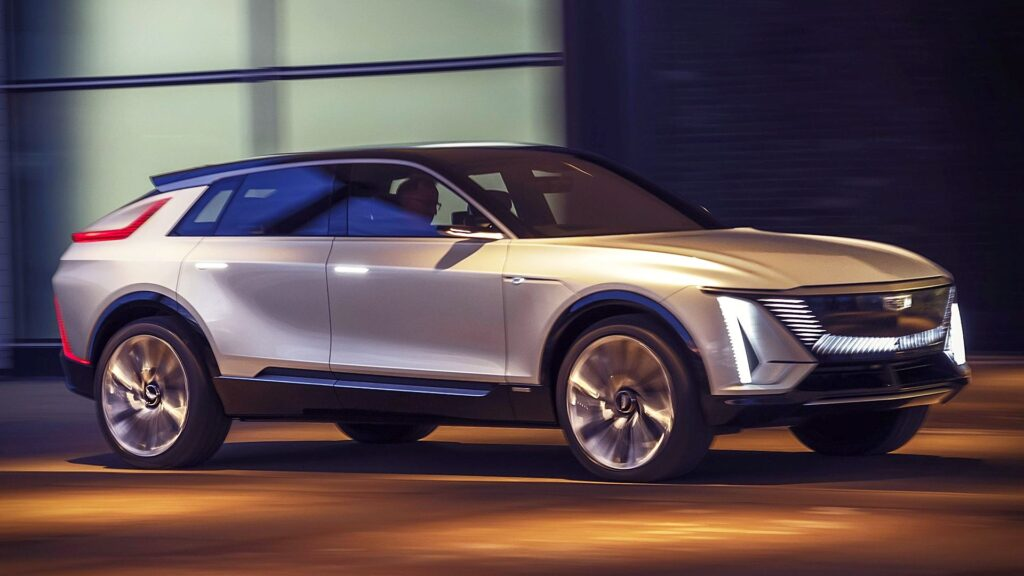 Latest Electric Car Releases for 2021-Cadillac Lyriq