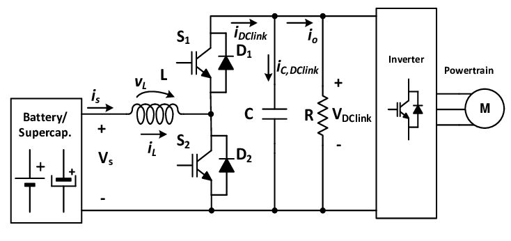 Schematic of the bidirectional DC-DC converter